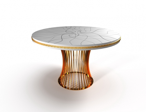 Marble mosaic table Ref: 00112