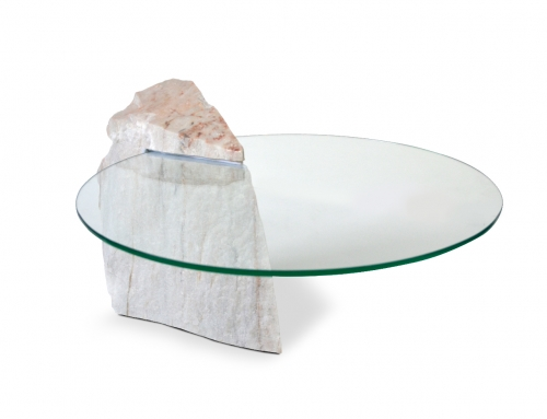 THE ROCKY Marble coffee table